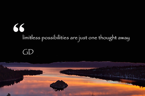 limitless possibilities are just one thought away