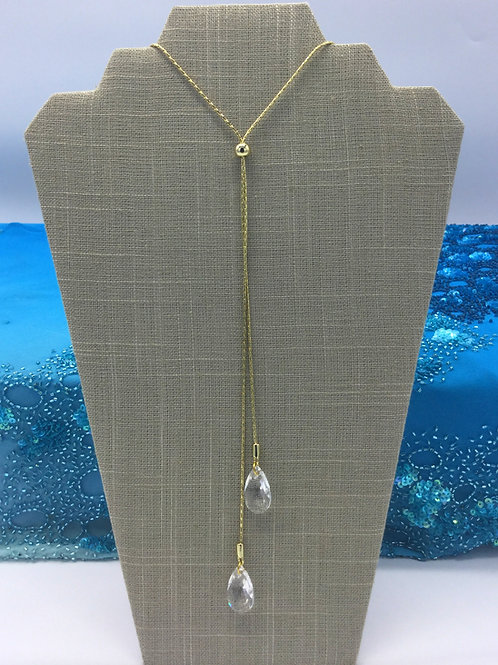 Pear Shaped Lariat / Gold