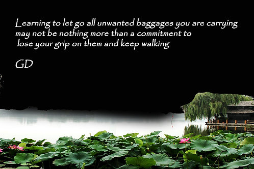 Learning to let go all unwanted baggages