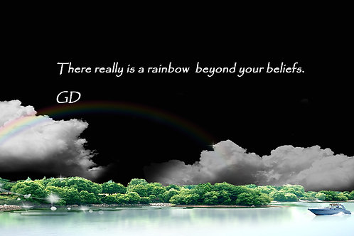 There really is a rainbow beyond your b