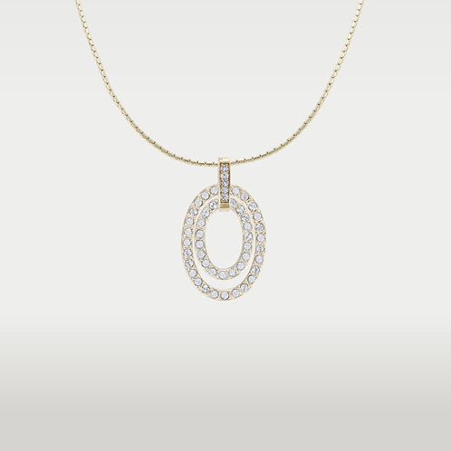 Oval (SM)Necklace Gold or Silver
