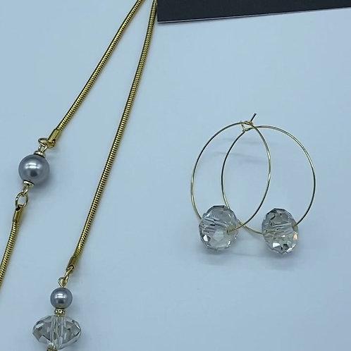 Swarovski Crystal and Pearl Set