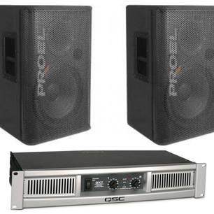 $100 2 x 800watt 15inch speakers and power amp
