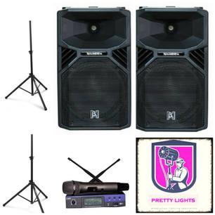 $140 2x 12inch 1100watt Active Pro speakers