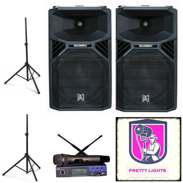 2x 12inch 1100watt Active Pro speakers  $130