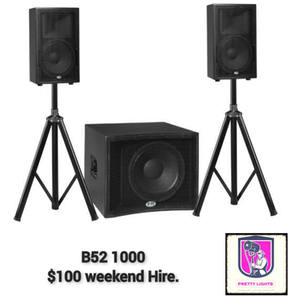 $100 B52 1000 1x 15inch sub 2x 10inch tops.