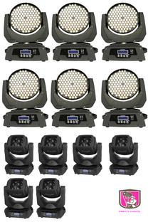 6x 108 LED wash moving head & 4x Super beams