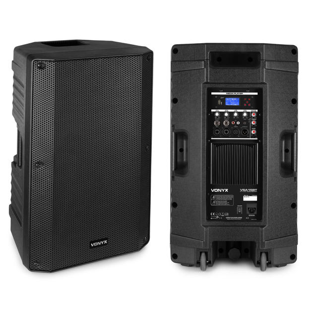 """(3) $80 2x 15inch Bi-Amplified Active Speaker 15"""" 500 Watts - Bluetooth / MP3  $80 for pair"""
