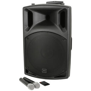 $90 (2 x Mic ) Portable ABS Active 15 Inch - with UHF, USB/SD/FM & Bluetooth