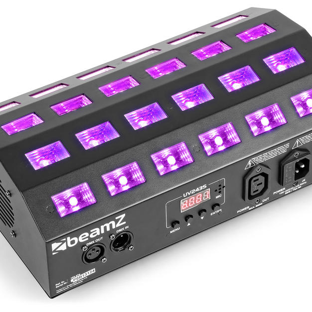 UV LED FLOOD - 24x 3W UV Watt with Strobe  $40 Weekend Hire
