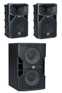 $200 2 x12inch1100watt and 1x twin12 sub 2000w