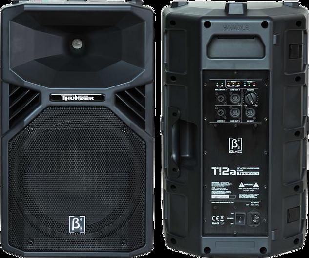 (6) $120 2 x 12 INCH Self powerd Pro Speaker