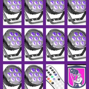 $160 Uplights Pack 3 (10 Flat Par Lights)