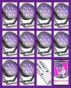 $150 Uplights Pack 3 (10 Flat Par Lights)