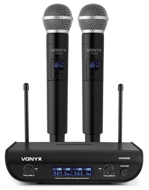 $35 Digital UHF 2 channel Wireless Microphone set with 2 handhelds