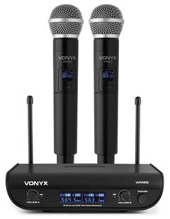 $40 Digital UHF 2 channel Wireless Microphone set with 2 handhelds