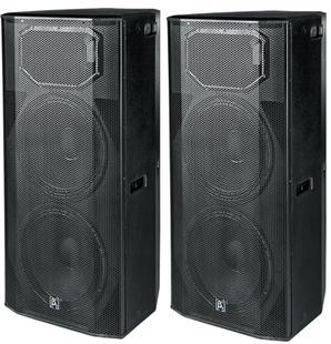 "(10) $160 2 x Dual 15"" Two Way Full Range Active Speaker"
