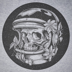 Astro Skull TShirt print