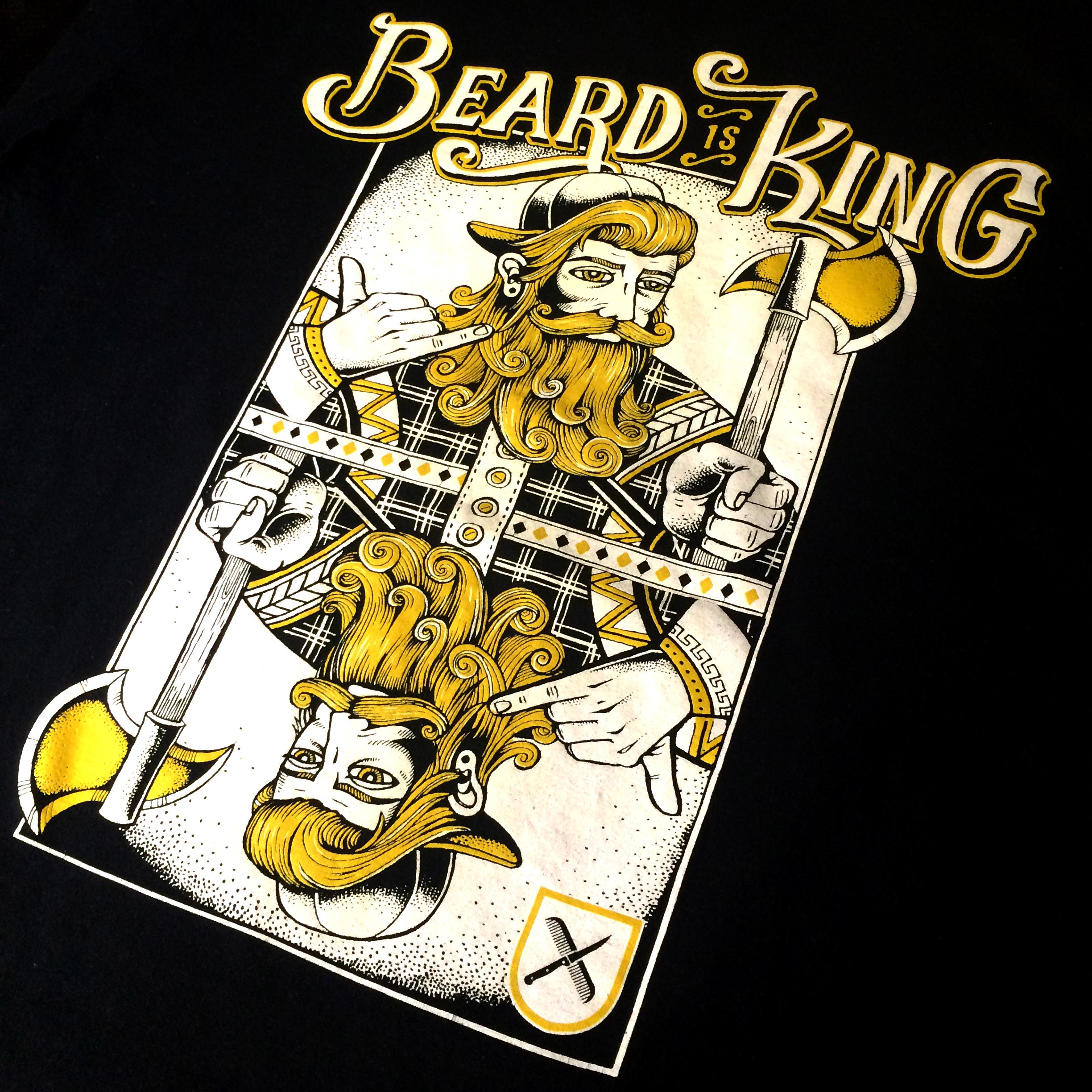 Steak and beards TShirt Print