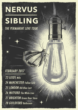 NERVUS/SIBLING tour poster