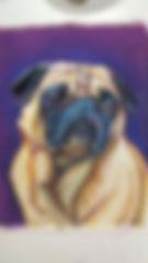 Pug Pet Portrait by Sue Steiner