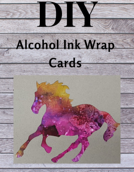 Alcohol Ink Wrap Card DIY