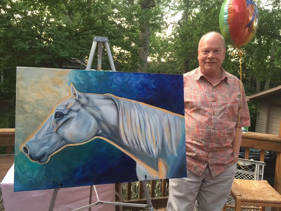 horse artwork memorial painting