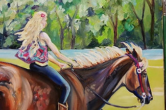 custom horse and rider portraits