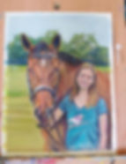 Horse and Owner Custom Portrait