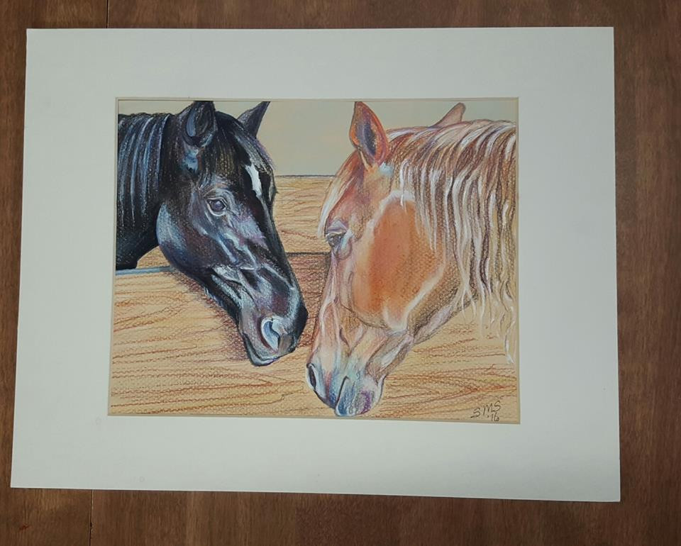 2 horse portrait by Sue Steiner