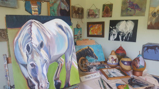 Large White Horse Oil Painting, Draw Near