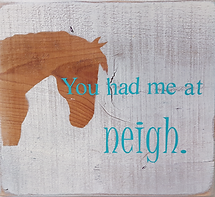 Wooden Horse Signs with quotes