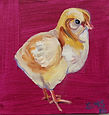 baby chicken painting