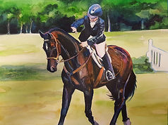 custom horse and rider paintings
