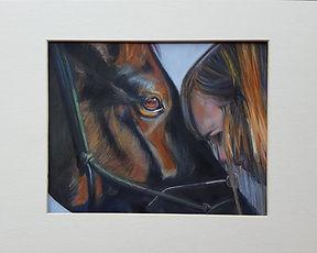 Horse and Owner Portrait by Sue Steiner