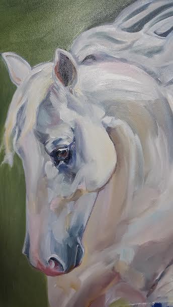 White Horse Art by Sue Steiner