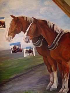 Horse Mural Painting Continues…