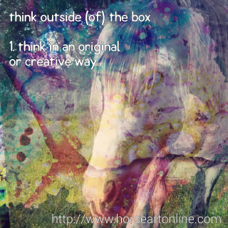 Thinking Outside the Box, Art and Horses