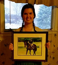 horse and rider custom paintings