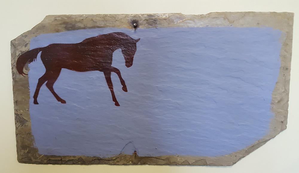 Chalkboard Slate with Horse