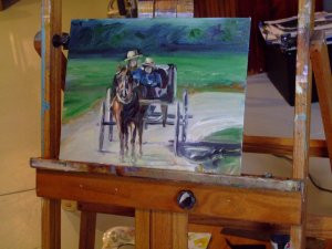 Daily Painting, Buggy Ride