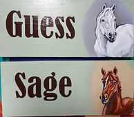 Custom Stall Signs