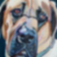 custom dog oil painting