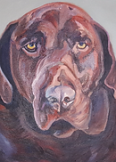 chocolate lab painting