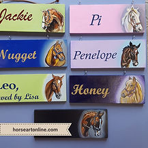Custom Painted Stall Signs