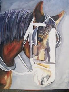 Buggy Horse Portrait 'Work in Progress' part II
