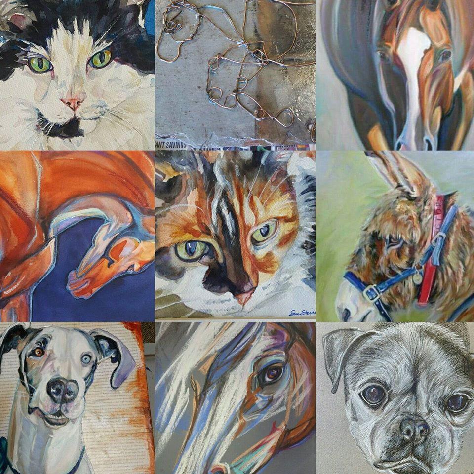 Custom Pet Portraits by Sue Steiner, Free Rein Art Studio