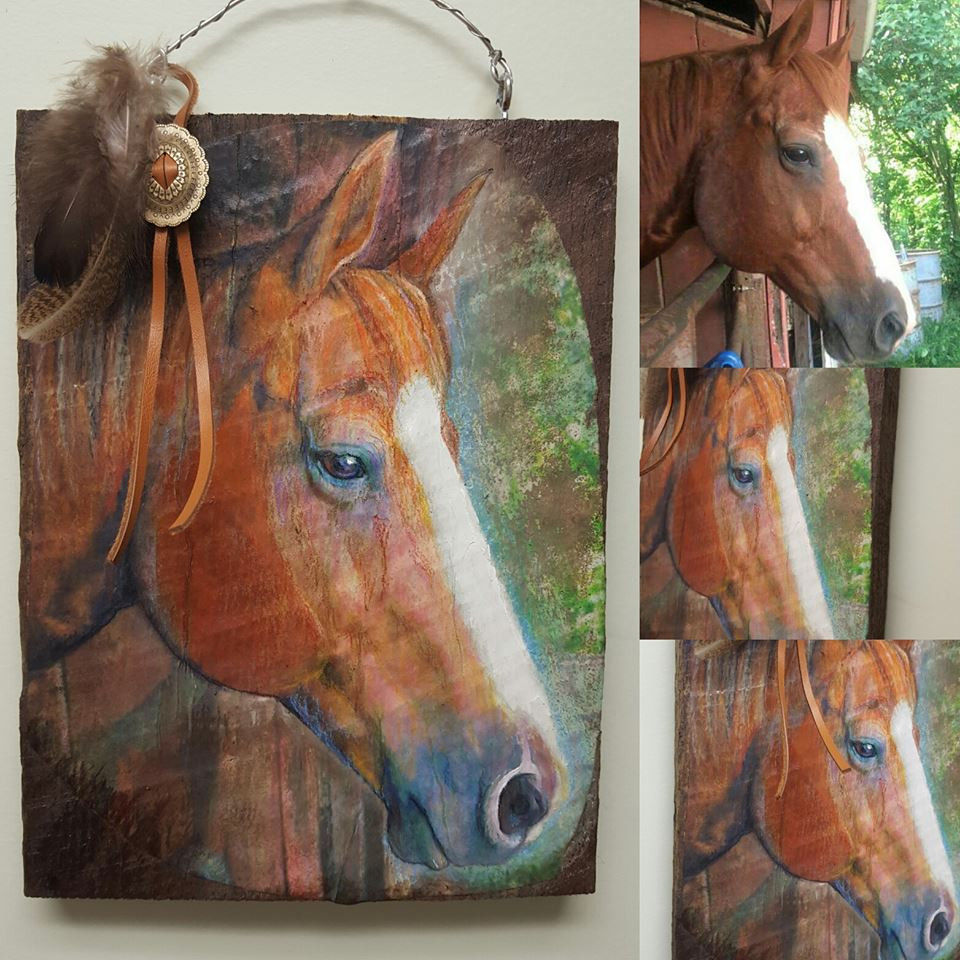 Custom Barnwood Horse Sign