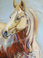Palomino Horse Oil Painting by Sue Steiner