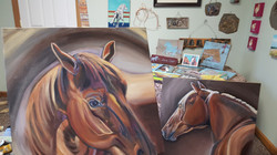 large scale custom horse art